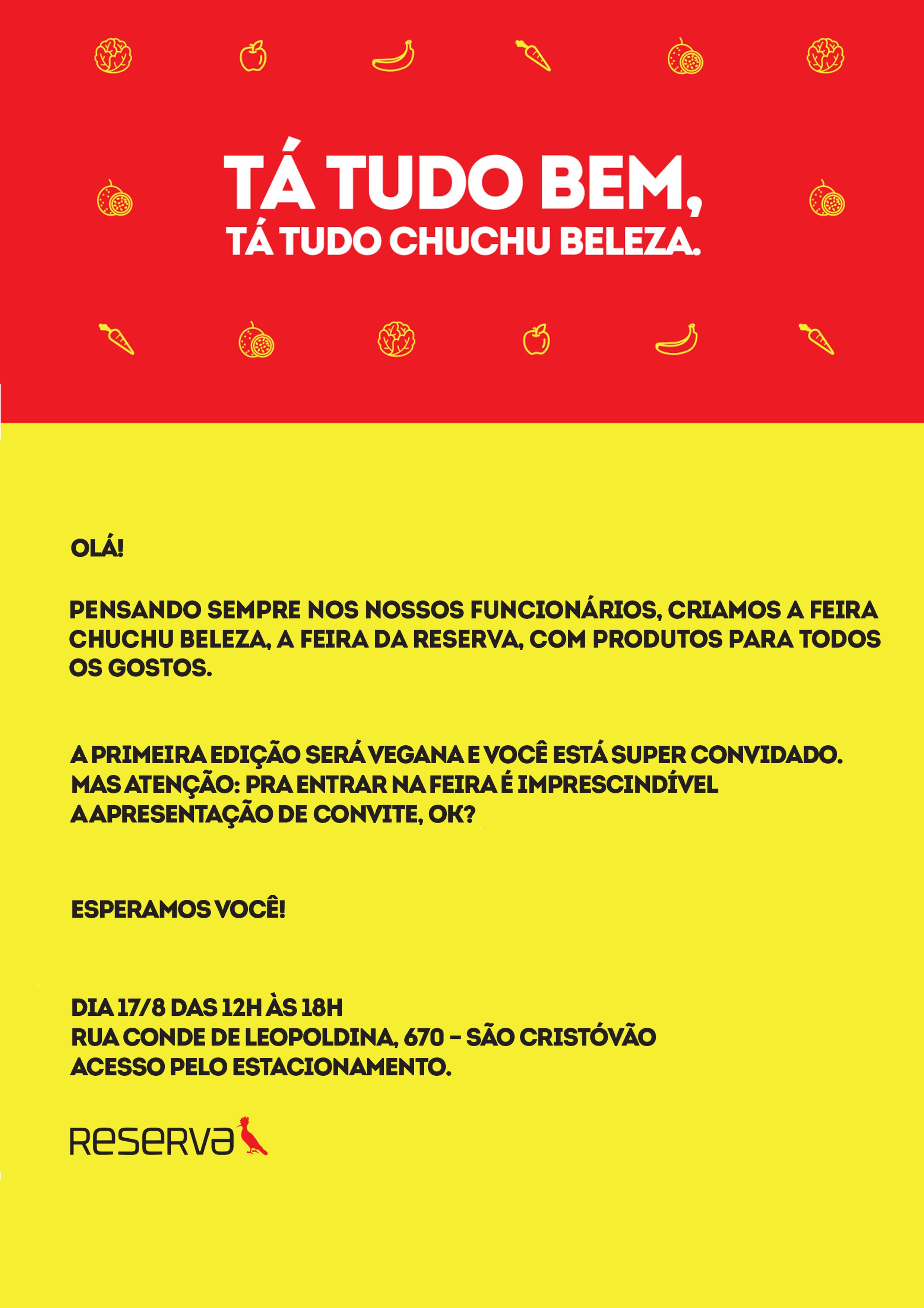 FEIRA – CHUCHU BELEZA – Família Reserva
